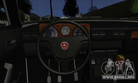 GAS 3102 Volga - Sheriff para GTA San Andreas vista posterior izquierda