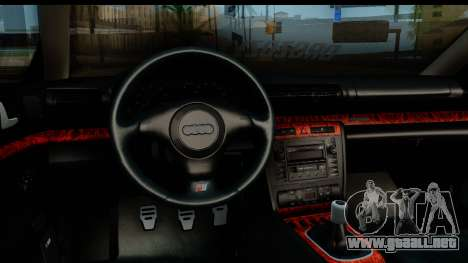 Audi S4 B5 Avant para GTA San Andreas vista hacia atrás