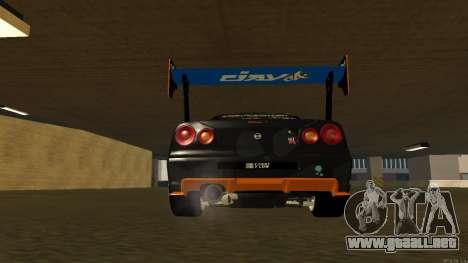 Nissan Skyline R34 FAIL CREW 2014 para visión interna GTA San Andreas
