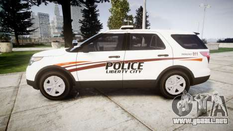 Ford Explorer 2013 Police Interceptor [ELS] para GTA 4 left