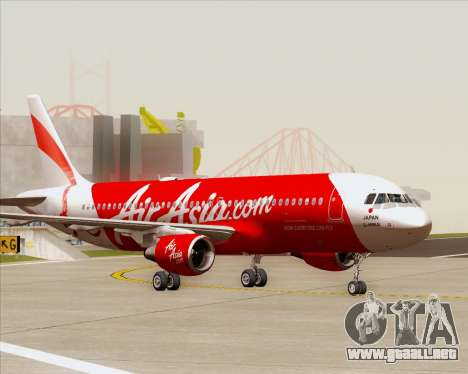 Airbus A320-200 Air Asia Japan para la vista superior GTA San Andreas