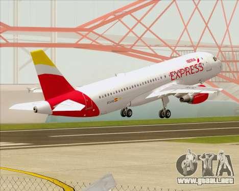 Airbus A320-200 Iberia Express para vista inferior GTA San Andreas
