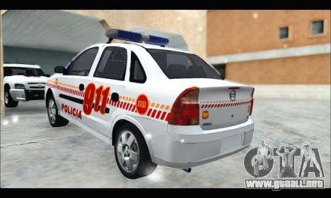 Chevrolet Corsa Premium Policia de Salta para GTA San Andreas left