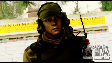 Engineer from Battlefield 4 para GTA San Andreas tercera pantalla