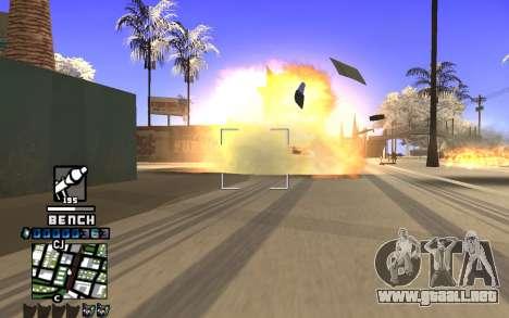 C-HUD Bench para GTA San Andreas tercera pantalla
