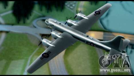 B-29 Superfortress para GTA San Andreas vista posterior izquierda