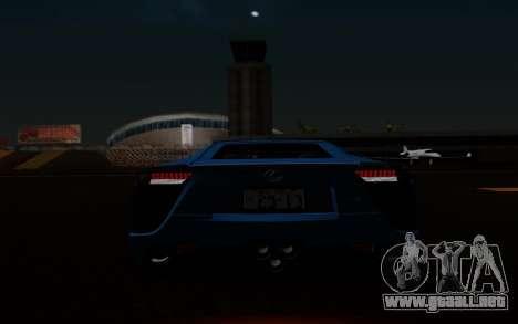 Lexus LF-A 2010 para vista inferior GTA San Andreas