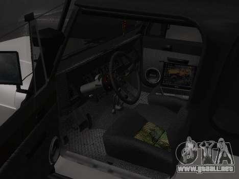 Jeep Wrangler 1986 Trofeo para GTA San Andreas vista hacia atrás