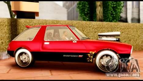 Declasse Rhapsody from GTA 5 IVF para GTA San Andreas left