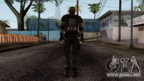 Resident Evil Skin 7 para GTA San Andreas segunda pantalla