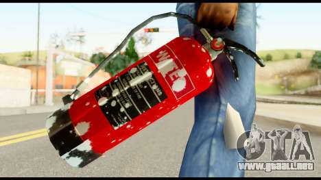 Fire Extinguisher with Blood para GTA San Andreas tercera pantalla