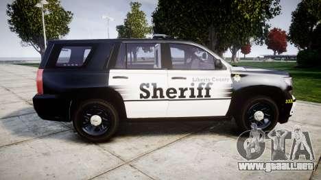 Chevrolet Tahoe 2015 County Sheriff [ELS] para GTA 4 left