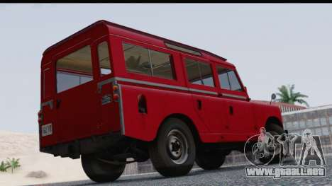 Land Rover Series IIa LWB Wagon 1962-1971 para GTA San Andreas left