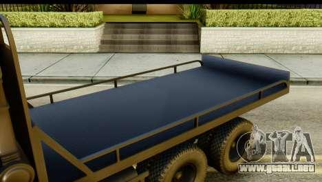 KamAZ 65115 Remolque DPS para GTA San Andreas vista hacia atrás