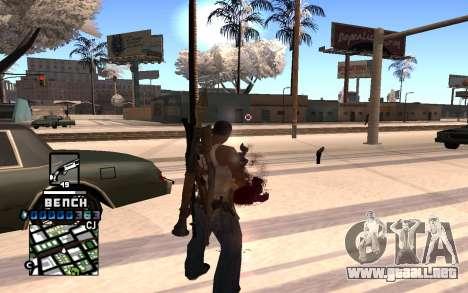 C-HUD Bench para GTA San Andreas segunda pantalla