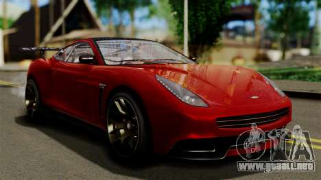 GTA 5 Dewbauchee Massacro Racecar (IVF) para GTA San Andreas