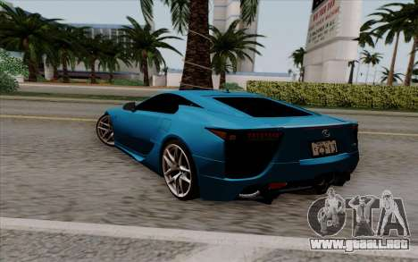 Lexus LF-A 2010 para GTA San Andreas left