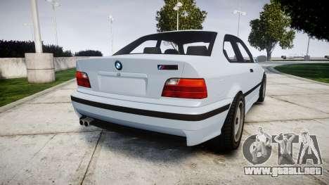 BMW E36 M3 [Updated] para GTA 4 Vista posterior izquierda