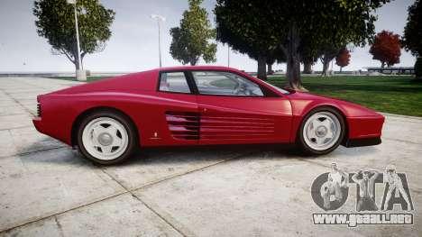 Ferrari Testarossa 1986 v1.2 [EPM] para GTA 4 left