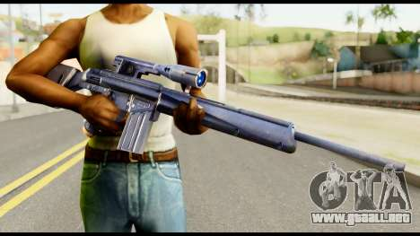 PSG1 from Metal Gear Solid para GTA San Andreas tercera pantalla