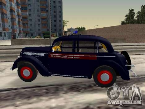 Moskvich 400 De La Policía para GTA San Andreas left