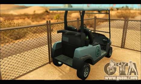 Caddy (GTA V) para GTA San Andreas vista posterior izquierda