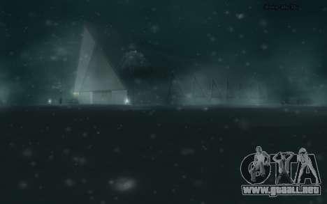 Snow Mod para GTA San Andreas quinta pantalla