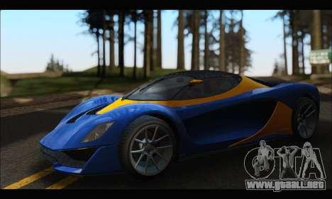Grotti Turismo R v2 (GTA V) para GTA San Andreas left