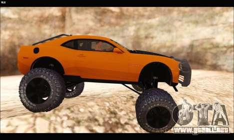 Chevrolet Camaro SUV Concept para GTA San Andreas vista posterior izquierda