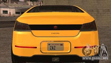 Cheval Surge 1.1 (IVF) para GTA San Andreas vista hacia atrás
