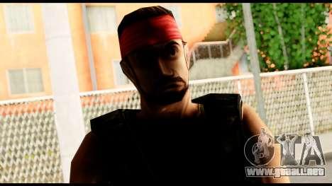 Counter Strike Skin 1 para GTA San Andreas tercera pantalla