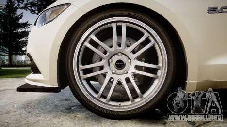 Ford Mustang GT 2015 Custom Kit black stripes para GTA 4 vista hacia atrás