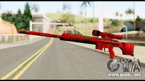 Sniper Rifle with Blood para GTA San Andreas