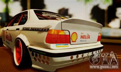 BMW M3 E36 Darnitsa Bandits para GTA San Andreas vista hacia atrás