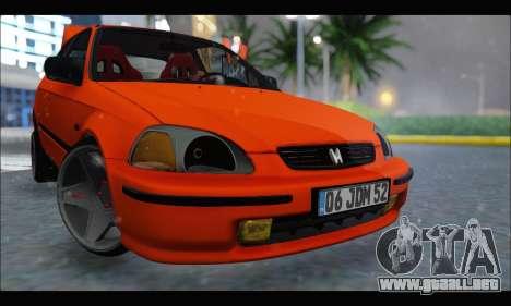 Honda Civic HB (JDM Family) para GTA San Andreas left