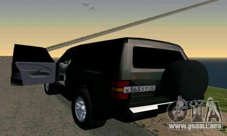 Mitsubishi Pajero Intercooler Turbo 2800 para GTA San Andreas left