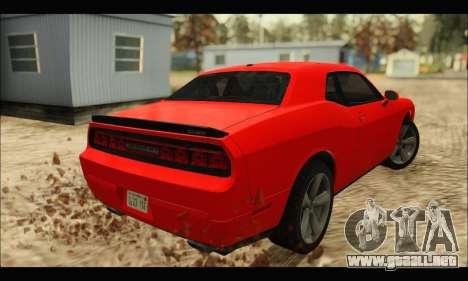 Dodge Challenger SRT-8 2010 v2.0 para GTA San Andreas vista posterior izquierda