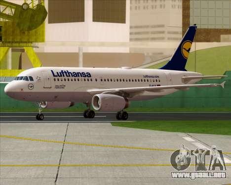 Airbus A319-100 Lufthansa para la visión correcta GTA San Andreas