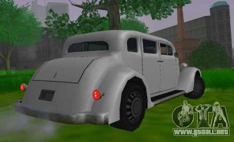Hustler Limousine para GTA San Andreas vista posterior izquierda