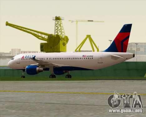 Airbus  A320-200 Delta Airlines para visión interna GTA San Andreas