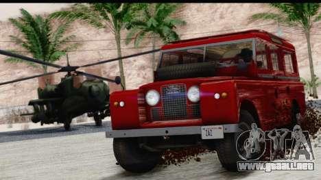 Land Rover Series IIa LWB Wagon 1962-1971 para la visión correcta GTA San Andreas