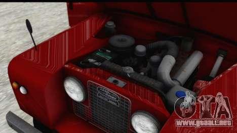 Land Rover Series IIa LWB Wagon 1962-1971 [IVF] para vista lateral GTA San Andreas