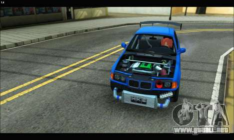 BMW e36 Drift Edition Final Version para la visión correcta GTA San Andreas