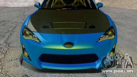 Subaru BRZ Drift Built para la visión correcta GTA San Andreas