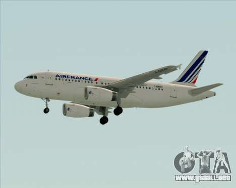 Airbus A319-100 Air France para visión interna GTA San Andreas