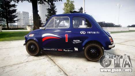 Fiat 695 Abarth SS Assetto Corse 1970 Red Bull para GTA 4 left