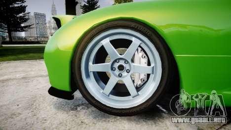Mazda MX-7 para GTA 4 vista hacia atrás