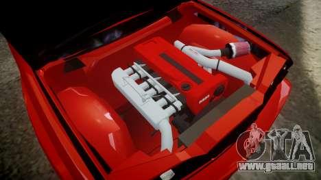 BMW E30 M3 para GTA 4 vista hacia atrás