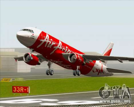 Airbus A320-200 Air Asia Japan para vista inferior GTA San Andreas