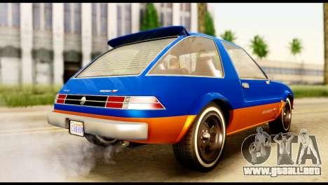 Declasse Rhapsody from GTA 5 para GTA San Andreas left